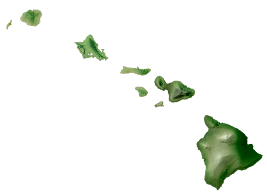 The Islands Of Hawaii Are